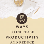 5 Ways to Increase Productivity & Reduce Overwhelm 1